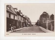 St Marys Street Bungay [S6137] Vintage RP Postcard 155b