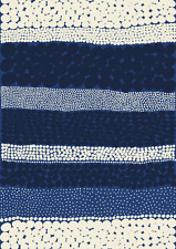"Marimekko  blue Jurmo cotton fabric yard, half yard, 18x56"", Finland"