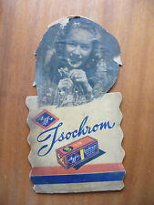 Agfa Isochrom paper sign Vintage old photo advertising retro used rare