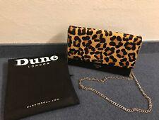 NEU DUNE LONDON Clutch Leder Abendtasche Umhängetasche, Leoparden Print