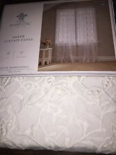 2 Simply shabby cottage chic white lace crochet Window Panel Rachel Ashwell girl