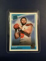 2018 Donruss # 303 BAKER MAYFIELD RATED ROOKIE Cleveland Browns $$ HOT $$ Look !