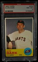 1963 Topps - Alvin Dark - #258 - PSA 8 - NM-MT