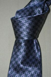 "$250 NWOT TOM FORD Purple w/ Navy houndstooth men's 3.75"" woven silk tie Italy"