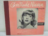 "GERTRUDE NIESEN Souvenir Album 10""/78 rpm 4-Disc Book-Set Decca A-674 EX Shellac"