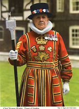 Postcard London  Yeoman Warder Tower of  London posted  Hynde