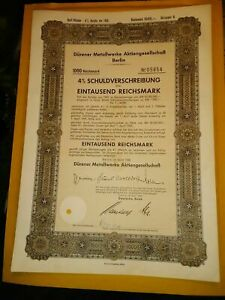 3 DIFFERENT GERMAN PRIVATE COMPANY STOCK OR BOND CERTIFICATES