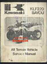Genuine Kawasaki KLF220 (1988-1996) Factory Manual KLF Bayou 220 A Quad ATV BG36