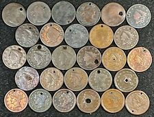 WOW! 28 DIFF HOLED DRAPED, CLASSIC, CORONET, BRAIDED LARGE CENTS 1801-1853!