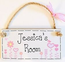 PERSONALISED ANY NAME GIFT new baby girl Room door sign plaque Christmas birth