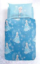 Set Copripiumino Lenzuola Principesse Frozen Elsa Neve Azzurro Disney Caleffi