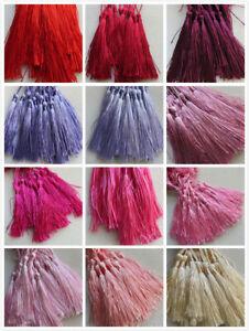 20 - 100 Large Silky Tassels 29 Colours 8cm Jewellery/Cushion/Craft/Frills
