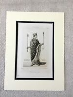 1830 French Royalty King Louis XI Portrait Antique Engraving Print