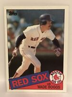 1985 Topps Wade Boggs baseball card Boston Red Sox NrMt  #350 MLB HOF Third Base