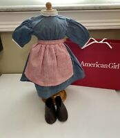 American Girl Pleasant Company Kristen Meet Outfit, Dress, Apron & Shoes HUNGARY