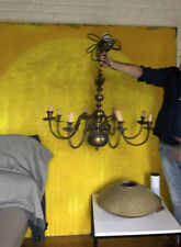 Antique Flemish FRENCH Brass Chandelier, Chandelier 9 Lamps in London now