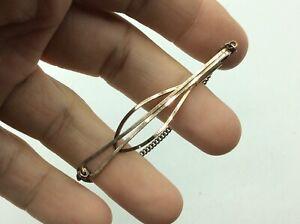 Fantastic Antique Vintage 9ct Gold On 925 Sterling Silver Men's Tie Clip