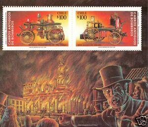 CHILE, ANCIENT FIRE ENGINE, SOUVENIR SHEET, MNH, YEAR 1993, BLOCK N° 63.-