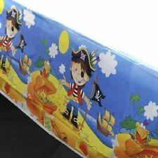 Set of 6 Bright and Fun Pirate Themed Plastic Tablecovers for Birthday Parties