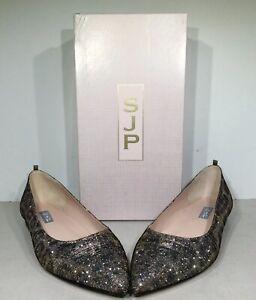 SJP by Sarah Jessica Parker Story FA Women 8.5/39.5 Leopard Fabric Flats X1-991