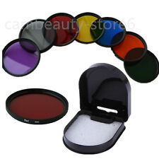 Green Orange Red Purple Yellow Blue Grey Full Color Filter For dslr Camera lens