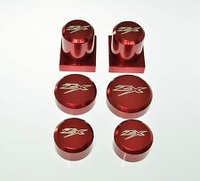 NINJA ZX 1000 ZX10 R ZX10R ZX-10R 04-09 RED AXLE DRESS UP KIT CAPS COVERS 202ZX