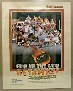 1996 Fun In The Sun Getaway Portland Winter Hawks Hockey Contest Poster 28x22""