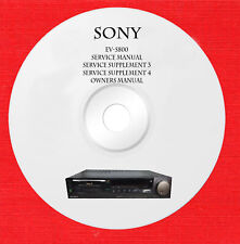 Service manual owner manual for Sony EV-S800 on 1 cd in pdf format