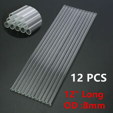 "12 x Borosilicate Pyrex Glass Tubing Blowing Tubes 12"" Long 8mm Od 1.2mm Thick"