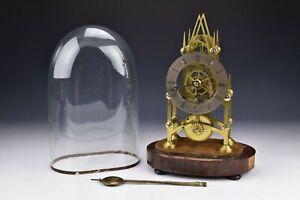 19th Century English T. Cox Savory Skeleton Clock Chain Driven Fusse