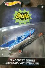 Hot Wheels Batman ( Classic TV Series Batboat with Trailer ) Sealed