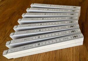 8 x Zollstock Zollstöcke Metermaß Maßstab Meterstäbe BAUMA 400 Profi 2m Holz CE