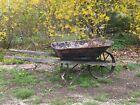 Antique Metal Wheelbarrow Rustic Cottage Garden ART PLANTER
