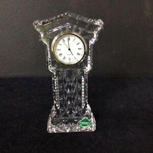 Edinburgh Crystal Quartz Miniature Pedestal Clock