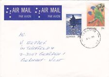 1978 20c bird PSE uprated with 35c Fishing used 1979 airmail to Germany ST649