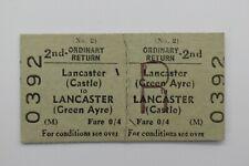 BTC (M) Railway Ticket No 0392 LANCASTER (GREEN AYRE) to LANCASTER (CASTLE)