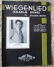 Weigenlied (Cradle Song) Lou Blake - Johannes Brahms Sheet Music 1935