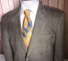 Jos. A. Bank Men's Green Check Plaid Silk Wool Sport Coat Blazer Jacket Sz 42R