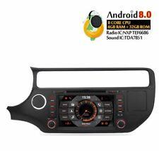 "AUTORADIO 8"" Android 8.0 Octa Core KIA K3 RIO 2013-2018 Navigatore Wifi Usb Sd"