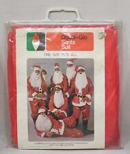 Vintage Christmas Doubl Glo Santa Suit in OP Unused One Size Fits All HK 1971