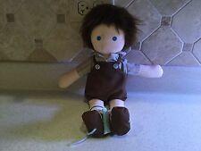 "Billy Best Friends Soft Doll Boy 14.75"" long Lora Schumacher Used"
