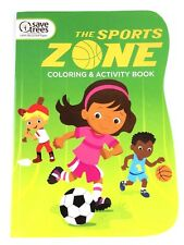 The Sports Zone Coloring & Activity Book for Boys Girls Kids Variety of Sports