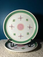 "Caleca Italy ""Belvidere"" #291 Hand Painted 11"" Dinner Plates (2) - Discontinued-"