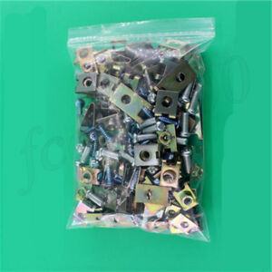 100x Car Fender Panel Mudflap Self Tapping Washer Steel Iron Fastener Clip Screw