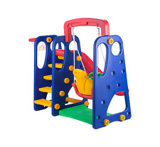 Kids Slide Swing Basketball Ring Activity Centre Toddlers Outdoor Play Toys Set