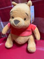 DISNEY BABY WINNIE THE POOH - POOH BEAR PLUSH STUFFED TOY NEW 0+ MONTHS