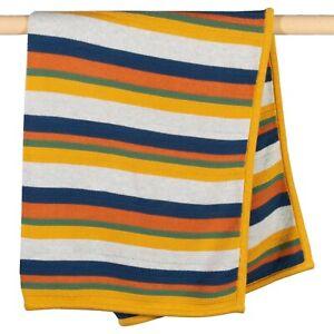 Kite Organic Cotton BrownSea Striped Boys Knit Blanket