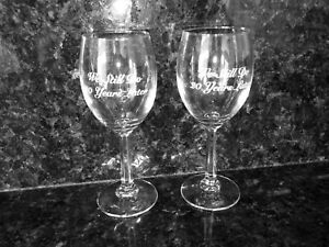 """NEW (Set of 2) 20th Anniversary Wine Glasses  """"We Still Do  20 Years Later"""""""