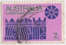 (DA880) 1971 AU 7c blue star on pink (G)