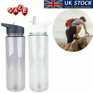 750ml PS Water Bottle with Straw Plastic Free Leakproof Sport Portable Drink Mug